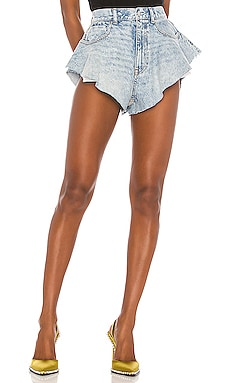 Runway Ruffled Short DENIM x ALEXANDER WANG $245