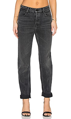 Wang 003 Boy Fit Jeans in Grey Aged