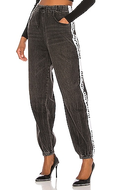 PANTALON FORME JOGGING DENIM x ALEXANDER WANG $325 BEST SELLER