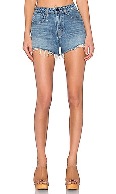 Bite High Rise Frayed Jean Shorts