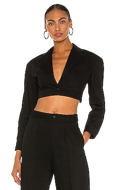 Black Denim Cropped Blazer DENIM x ALEXANDER WANG $375 NEW