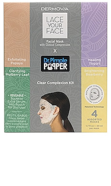 Lace Your Face X Dr. Pimple Popper Clear Complexion Kit Dermovia $55