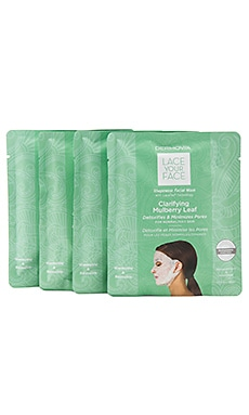 LOT DE 4 MASQUES VISAGE LACE YOUR FACE Dermovia $55