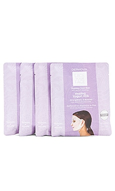 LOT DE 4 MASQUES POUR LE VISAGE LACE YOUR FACE Dermovia $55