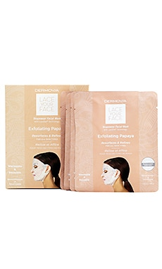 Exfoliating Papaya Lace Your Face Mask 4 Pack Dermovia $55
