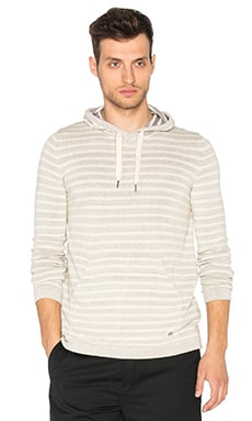 Deus Ex Machina Surf Stripe Hoody in Grey Marle Stripe