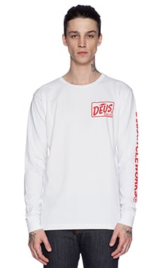 Deus Ex Machina Cycle Works Tee in White