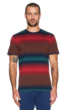 Deus Ex Machina Gradation Tee in Red Wine