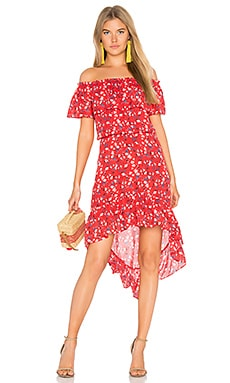 Carrie Dress in Apple Ditsy Floral