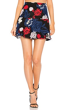 Baily Skirt in Floral Embroidery