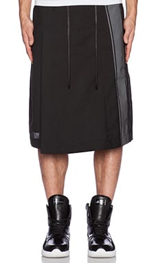 D. Gnak Reflected Wrap Shorts in Black/Black