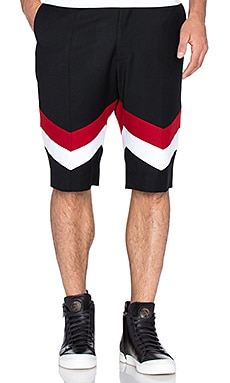 D. Gnak Double Line Shorts in Black RE