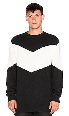 D. Gnak Color Blocking Pullover in Black IV