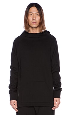 D. Gnak Side Zipped Hoodie in Black
