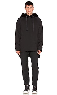 D. Gnak D by D Synthetic Fur Hoodie in Black