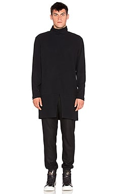 D. Gnak D by D Turtle- Neck Long Pullover in Black