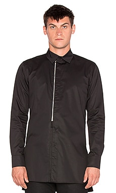 D. Gnak Front Zip Shirt in Black