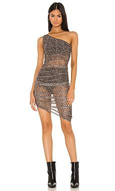 One Shoulder Ruched Dress DANIELLE GUIZIO $288