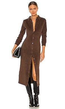 Rib Knit Button Up Midi Dress DANIELLE GUIZIO $328