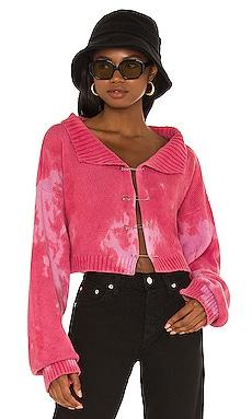 Tie-Dye Knit Safety Pin Sweater DANIELLE GUIZIO $348