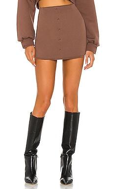 Fleece Button Skirt DANIELLE GUIZIO $175 NEW