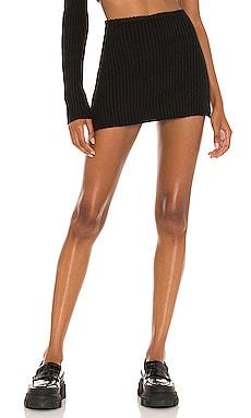 Rib Knit Mini Skirt DANIELLE GUIZIO $180