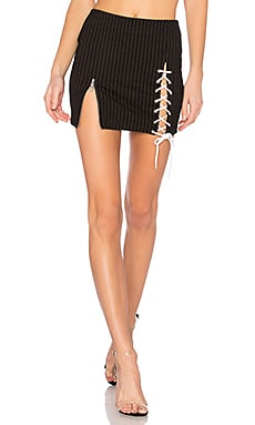 Lace Up Zip Skirt