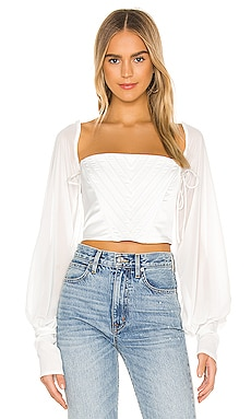 Long Sleeve Corset Top DANIELLE GUIZIO $308