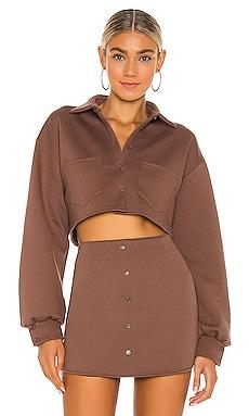 Fleece Button up Top DANIELLE GUIZIO $225 NEW