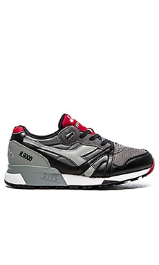 Diadora Elite N9000 LS in Gray Black