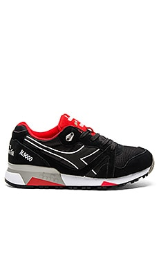 Diadora N9000 NYL II in Black & Ferrari Red