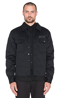 Dickies Construct Quilted Overshirt in Black