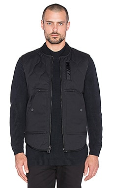 Dickies Construct Quilted Vest in Black