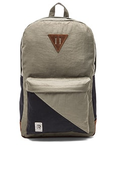 Diesel Slashing M Slash Backpack in Olive Night Black