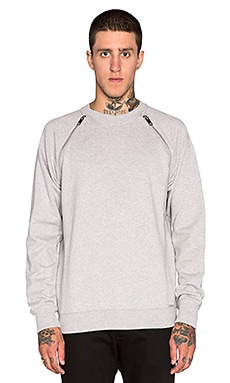 Diesel Black Pullover in Heather Grey