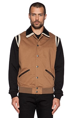 Diesel Toku Varisty Jacket in Camel Brown