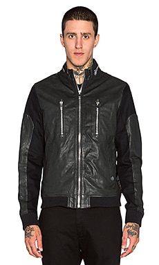 Diesel Madara Leather Jacket in Black
