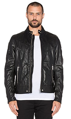 Diesel Reed Leather Jacket in Black