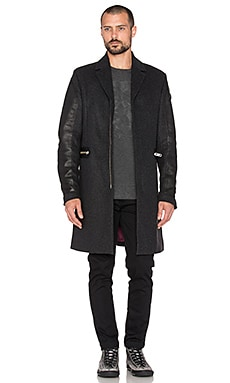 Diesel Crow Coat in Charcoal