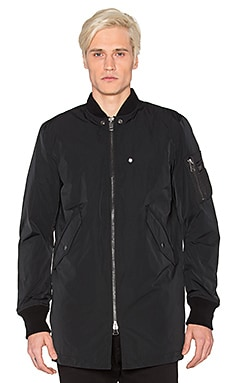 Diesel Ubilee Long Bomber Jacket in Black