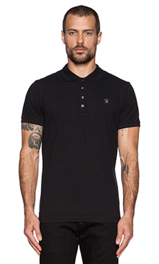 Diesel Yahei Polo in Black