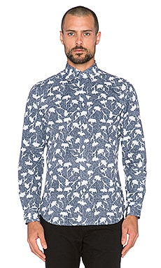 Diesel Temari Long Sleeve Shirt in Navy