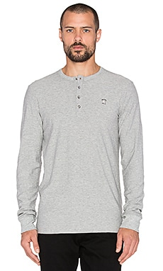 Diesel Niketas Henley Tee in Heather Grey