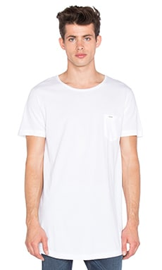 Diesel Longer Tee in White