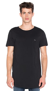 Diesel Longer Tee in Black