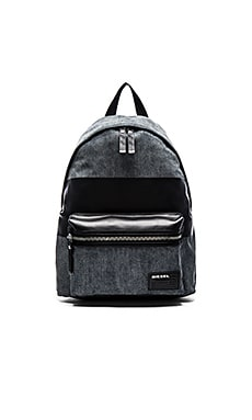 Diesel Blockin' Too Denim Backpack in Light Blue Black