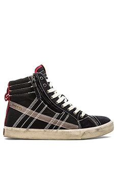 Diesel D-Velows D-String Sneaker in Black Tango Red