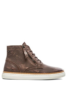 Diesel Gun-Tel D-Blaast Mid Sneaker in Coffee Bean