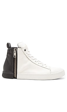 Diesel Zipproundd S Nentish in White Black
