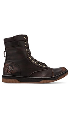 Diesel Tatradium Basket Butch Zip Sneaker in Coffee Bean